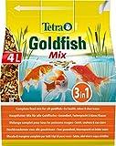 Tetra Pond Goldfish Mix Premium Hauptfutter (Futtermix aus besten Flocken, Sticks und Gammaruskrebsen speziell für alle Goldfische), 4 Liter Beutel
