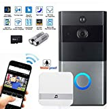 KOBWA Video Doorbell, Wireless Video Doorbell,Real-Time Two-Way Talk and Video, Night Vision, PIR