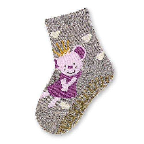 Sterntaler Baby - Mädchen Socken Glitzer - Flitzer AIR Maus 8131712, Gr. 24, Grau (silber melange 542)
