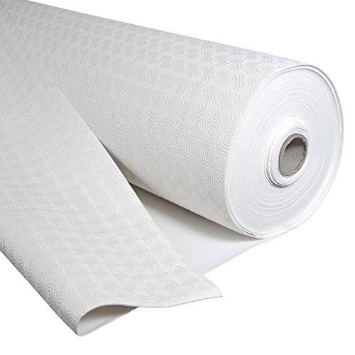 Molton Protection de table ronde rectangulaire en molleton Blanc, Blanc, Weiss, 100001 Oval 110 x 240 cm