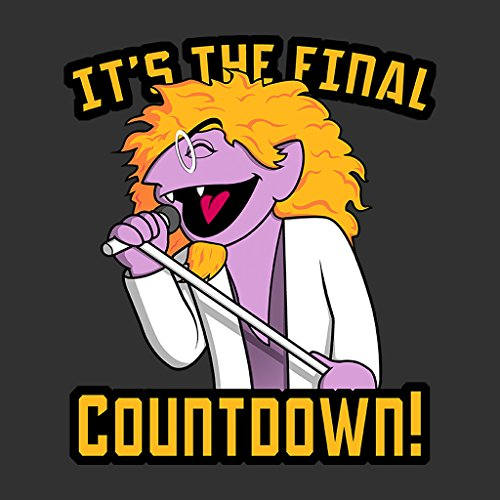The Final Countdown The Count Sesame Street Europe Womens Hooded Sweatshirt Anthracite
