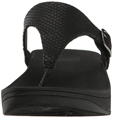 FitFlop The Skinny (Leather) - Dark Tan Black Snake