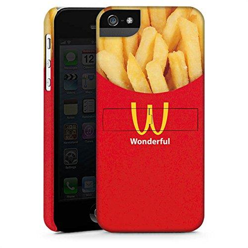 Apple iPhone 5s Housse Outdoor Étui militaire Coque Pommes Fast Food Frites CasStandup blanc