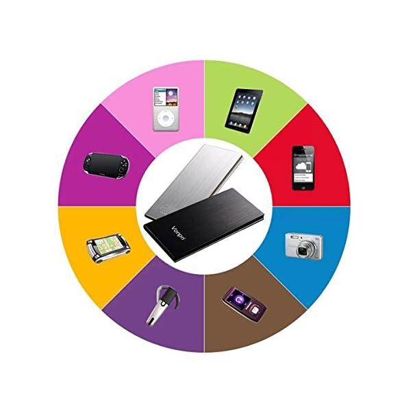 Vonpri 10000mah Caricabatterie Portatile Power Bank Batteria Esterna per iPhone7 iPad, Samsung Smartphones e Tablets… 4 spesavip