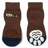Pet Heroic Indoor Anti-Rutsch Socken für Hunde und Katzen |6 Größen von S bis 3XL für kleine-riesige Tiere | Pfotenschutz und Traktion Dank Silikon-Gel