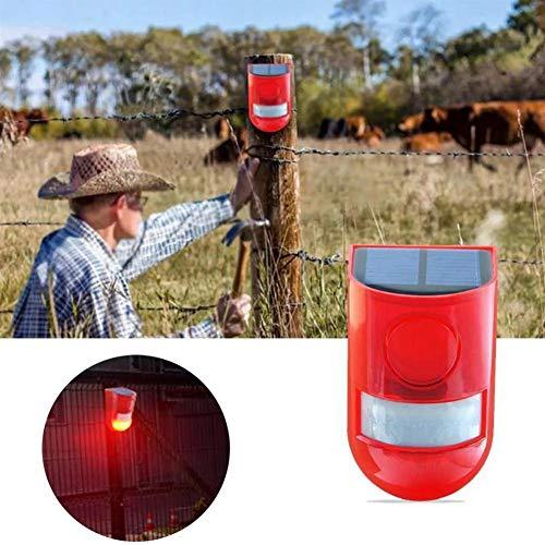 Solar LED-Licht im Freien Garten-Sicherheits-Licht Bewegungs-Sensor-Warnung Ton