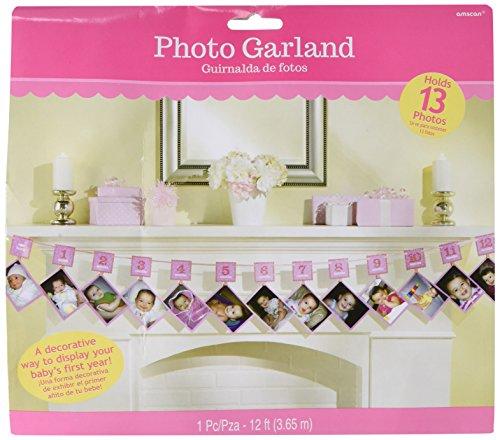 Baby 1. Jahr Girlande Mädchen 1. Monat ... 2 .... 3.... 4.... 10... 12... Monate für Fotos zur Selbstanbringung