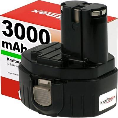 Kraftmax Hochleistungs-Akku für MAKITA 1434 - 14,4V / 3000mAh / Ni-MH - Profiqualität mit frischen, hochwertigen Markenzellen