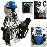 Custom Brick Design CBD 501st Legion Clone Commando Trooper Figur Gefertigt aus Lego Star Wars & Custom Teilen