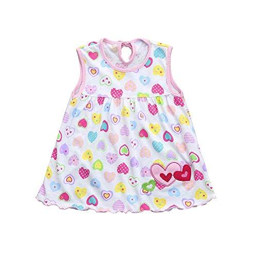Vestido para Bebés,ZARLLE Vestido Niña Vestido de Fiesta Sin Manga Princesa Falda Ropa de Bebe niña Verano 2019 Vestir 12meses-5 años