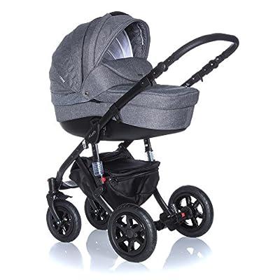 Baby Pram Pushchair Stroller Buggy, Travel System Adamex Barletta 20Lc 2in1 black frame