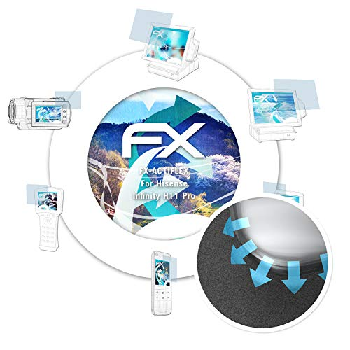 atFolix Schutzfolie passend für Hisense Infinity H11 Pro Folie, ultraklare & Flexible FX Bildschirmschutzfolie (3X)