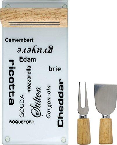 Tagliere per formaggio via formaggi piatto supporto magnetico schneider 3tlg tagliere formaggio coltello 30,0x 13,8x 4,4cm formaggio tagliere