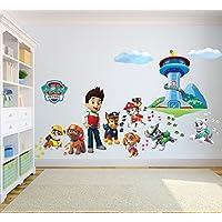 Paw Patrol Sticker mural 3D Chambre Garçon Fille?Taille enfants