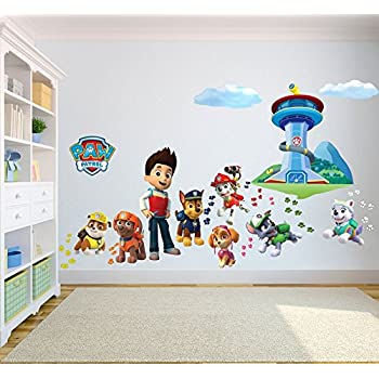 PAW PATROL EXTRA LARGE WALL STICKER   3D BEDROOM BOYS GIRLS KIDS