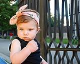 ❤ Diadema de lazo rosa con pandas para recién nacido bebé niña y mujer ❤ ésta cinta para el pelo está hecha a mano en algodón y es ajustable a medida que tu pequeña va creciendo.