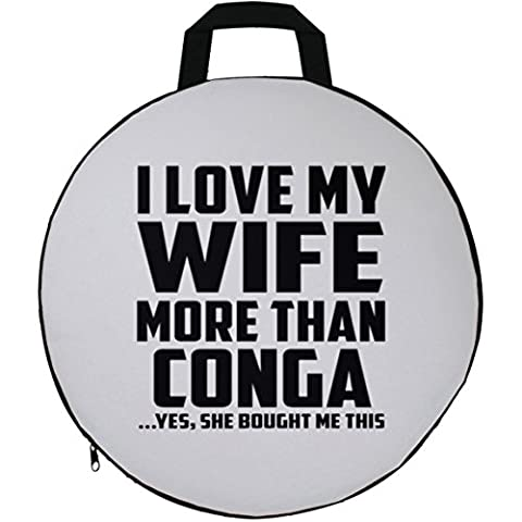 Husband Seat Cushion, I Love My Wife More Than Conga ...Yes, She Bought Me This - Seat Cushion, Round Seat Pillow, Unique Gift Idea for Birthday, Men,