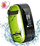 Aitop Fitness Tracker IP68, Orologio Fitness Cardiofrequenzimetro Contapassi Display LCD Colorato...