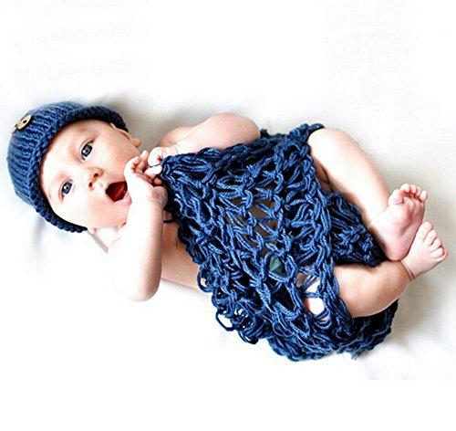 DAYAN Nette neugeborene Baby-Ausstattung Baby Crochet Zippelkapp Kostüm Fotografie Prop
