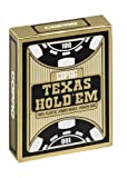 Copag 10.40.06.334 - Carte da gioco Texas Hold'em Gold Jumbo Face, colore: Nero