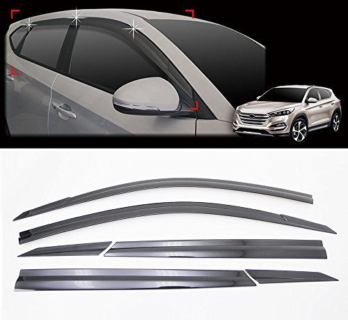Sell by Automotiveapple, AutoClover D054 Smoke Window Shield Sun Visor Vent Wind Rain 6-pc 1Set For 2016 Hyundai Tucson : ALL NEW TUCSON by Automotiveapple