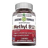 Amazing Formulas Methyl B12 5,000 Mcg 60 Chewable Tablets ( Cherry Flavor ) by Amazing Nutrition