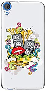 URBAN KOLOURS Original Designer Printed Clear Case Back Cover for HTC Desire 820 (Space Jam-Clear)