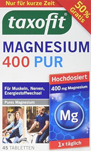 Taxofit Magnesium Tabletten 400 pur, 30 Stück