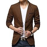 Moin Herren Sakko Gr.L Color: Braun Business Anzug Blazer Anzugsakko Anzugjacke Frühling Sommer Herbst Jacke Basic comfort fit mit Struktur Style-2195