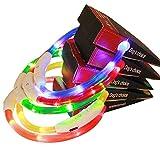 Allouli LED Visio Halsband——Leuchtende Pet-Kragen LED-Haustier Beleuchtung liefert USB Lade Hundehalsband 70CM,universell kürzbar