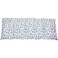 Körnerkissen Wärmekissen Dinkelkissen 100% Baumwolle Blümchen blau 50x20cm
