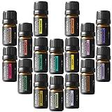 Zenpure Kit Aromathérapie Huiles Essentielles 16 Bouteilles/ 5mL Chaque 100% Pure et Naturelles et Qualité Thérapeutique