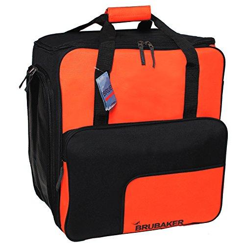 Brubaker Super Function 2.0 Skischuhtasche mit Rucksackfunktion Orange/Schwarz -