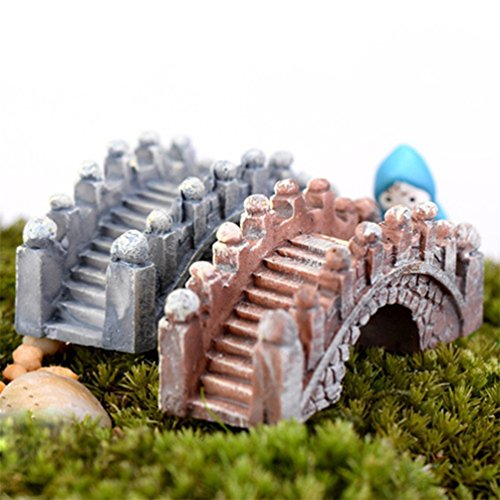 Floralby 2 Miniatur Arch Bridge Querformat Fairy Garden Ornament Fisch Tank Aquarium Decor