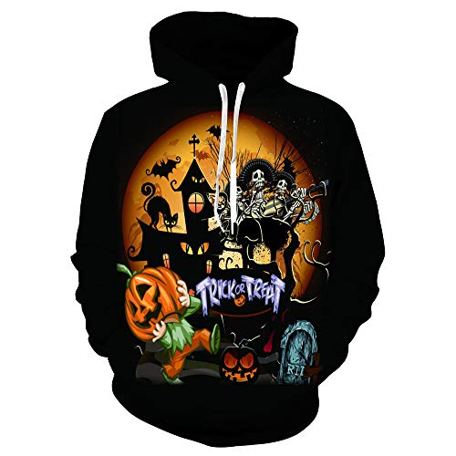 Damen Sweatshirt, LANSKIRT Frauen Männer Hoodies 3D Gedruckte Halloween Cosplay Pullover Paare Sweatshirt Oberteile Blusen