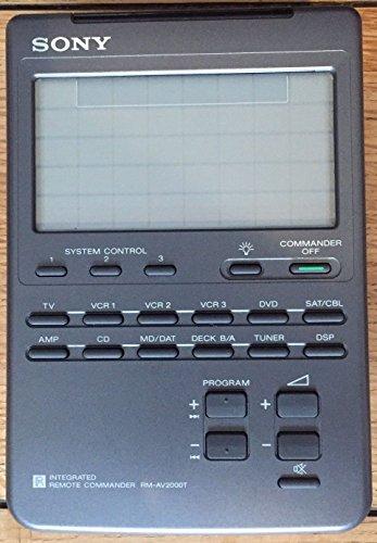 Sony RM-AV 2000 T Integrierte programmierbare Fernbedienung mit beleuchtetem Touch-LCD
