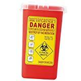 Fenteer 1Litro Sharps Container Bin Tatuaggio Biohazard Raccolta di Rifiuti Ago Box