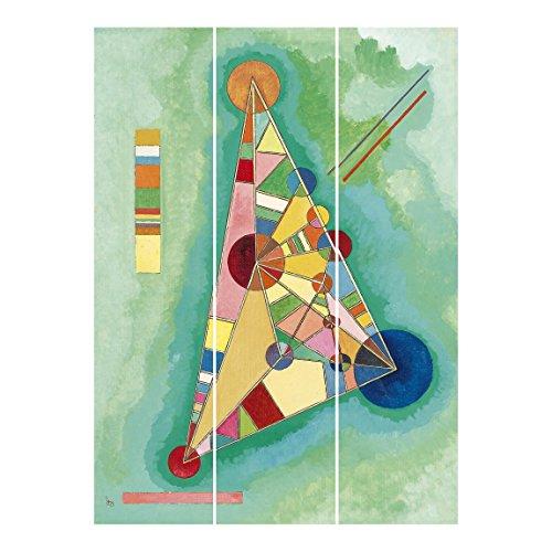 Bilderwelten Schiebegardinen Set - Wassily Kandinsky - Bunt im Dreieck - 3 Flächenvorhänge,...