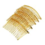 Lot de 5pcs Peigne Epingle à Cheveux 18-Pins en Métal - Couleur d'Or