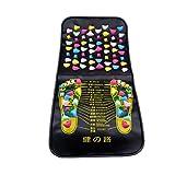 PRETTY SEE 2-in-1-Fuß-Massage-Matte Schmerzlinderung Akupunktur-Matte Kunststoff Kiesel-Massage-Teppich zur Entspannung