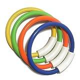 TOYMYTOY Anelli per tuffi Pool Toy, Set di 4 ring game, Dive Retrieve, Shapable collegabile, età 5 Up (arancione verde giallo blu)