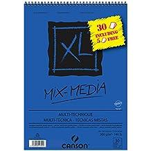 CANSON 4/St/ück Block 60/Blatt Papier Zeichnung Skizze XL Spirale Grand Seite 90/g A5