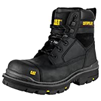 Mens CAT Caterpillar Gravel Steel Toe Cap Safety Work Boots BLACK SIZE 10