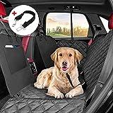 KYG Coprisedile Auto per Cani Telo Posteriore Auto per Animali Domestici Rivestimento per Sedile dell'Auto di Panno Oxford Impermeabile Antigraffiato e Antiscivolo Nero