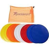 Precision Discos de entrenamiento (planos), varios colores multicolor amarillo, naranja, blanco, rojo y azul Talla:21 cm