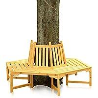 Melko® 360 Grad Baumbank Gartenbank Rundbank, aus Holz, Durchmesser 180 cm, Höhe 90 cm