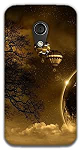 The Racoon Grip printed designer hard back mobile phone case cover for Moto G 2nd Gen. (hot air ba)