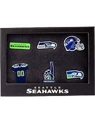 Forever Collectibles Seattle Seahawks Logo de l'équipe NFL Badge Lot de 6