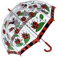 Bugzz PVC Dome Umbrella for Children - Spotty Ladybird