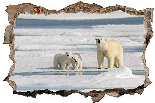 Eisbär Eis Schnee Alaska Wandtattoo Wandsticker Wandaufkleber D1304 Größe 70 cm x 110 cm -